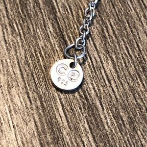 Swarovski Jewelry - Sterling Silver Circle Necklace